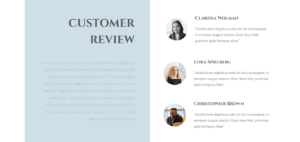 S4 – Boxes Left Text Right Testimonials